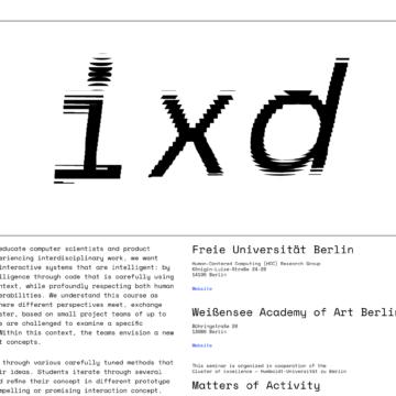Coding IXD